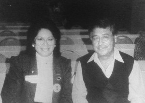 Eva Savala and civil rights icon Cesar Chavez