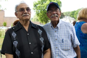 "Ernest Rodriguez alongside fellow LULAC Davenport founder Henry Vargas. Ernest Rodriguez was one of the speakers at the 50th Anniversary of the ""I have a Dream Speech"" celebrated in Davenport on August 28, 2013"