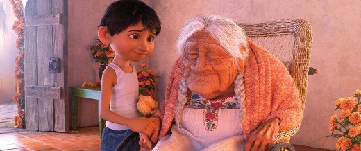 "COCO (Pictured) - FAMILY BONDS - In Disney•Pixar's ""Coco,"" Miguel (voice of Anthony Gonzalez) has a very special relationship with his great-great-grandmother, Mamá Coco (voice of Ana Ofelia Murguía). Directed by Lee Unkrich and co-directed by Adrian Molina, Disney•Pixar's ""Coco,"" opens in U.S. theaters on Nov. 22, 2017. ©2017 Disney•Pixar. All Rights Reserved."